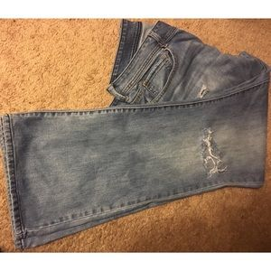 American Eagle Distressed Denim Flare Leg Jeans